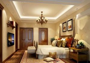 简约小户型卧室石材背景墙装修效果图