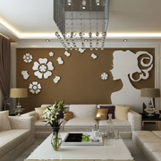 复式楼简约风格沙发背景墙装饰