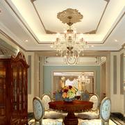 粉色餐厅奢华风格背景墙装饰