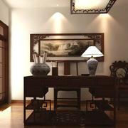 中式风格书房背景墙装饰
