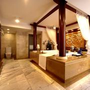 美式简约风格卫生间浴缸装饰