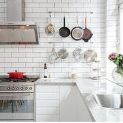北欧风格厨房清新L型橱柜装饰