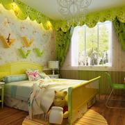 自然风格儿童房效果图