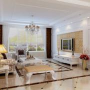 欧式风格客厅飘窗装饰