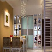 现代简约风格公寓餐厅背景墙装饰