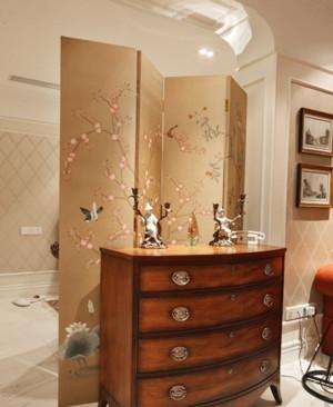 美式简约风格客厅隔断装饰