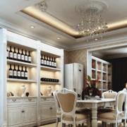 法式餐厅酒柜设计
