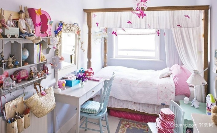 6平米粉色公主儿童房装修设计效果图