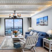 地中海客厅简约沙发装饰