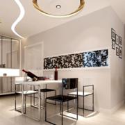 现代风格餐厅背景墙装饰
