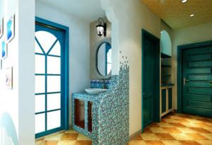 两居室地中海风格鞋柜设计装修效果图