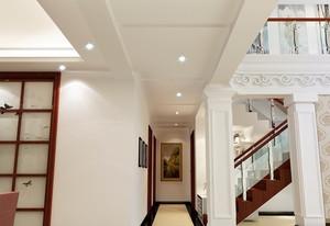 单身公寓欧式现代客厅走廊吊顶装修效果图