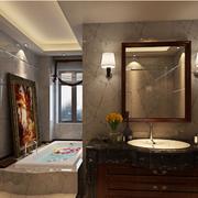 美式简约风格浴室镜饰装饰