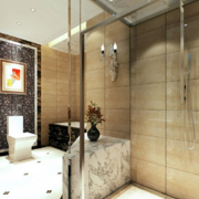 别墅大型简欧卫生间装饰