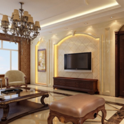 两室一厅简约风格石膏板背景墙装饰