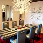 美式简约风格餐厅照片墙装饰