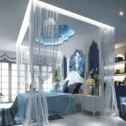 地中海卧室床饰装饰