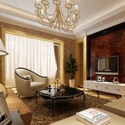 欧式风格奢华客厅背景墙装饰