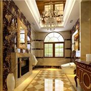 美式风格奢华浴室通气窗装饰