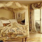 欧式奢华风格卧室窗帘装饰