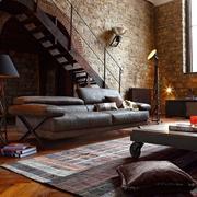 loft风格公寓简约楼梯效果图