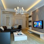 后现代风格客厅电视背景墙装饰