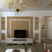 欧式客厅石膏板背景墙装饰