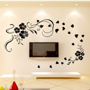 简约风格印花客厅背景墙装饰