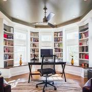美式简约风格书房飘窗装饰