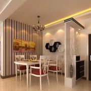 欧式风格简约餐厅置物架装饰