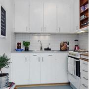 简约风格L型开放式厨房装饰