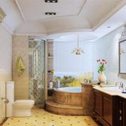 美式简约风格浴室石膏板吊顶装饰