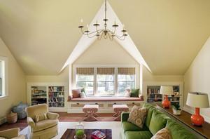 三居室美式飘窗窗帘设计装修效果图