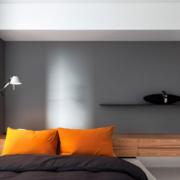 后现代风格交互空间卧室床头装饰