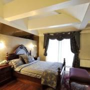 美式复古风格卧室飘窗装饰