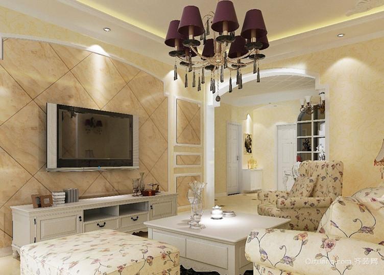 110平米韩式客厅电视背景墙装修效果图