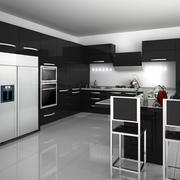 冷色调厨房橱柜设计