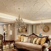 欧式风格餐厅石膏板吊顶装饰