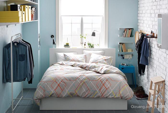 干净宜家风 卧室背景墙装修效果图