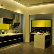 后现代风格清新厨房橱柜装饰