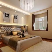 现代简约风格卧室床头壁纸装饰