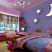 紫色调卧室背景墙