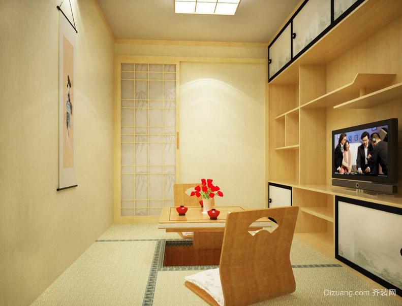 三居室日式客厅电视背景墙装修效果图