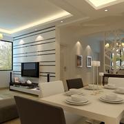 后现代风格客厅餐桌装饰