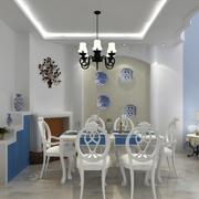 地中海餐厅简约风格置物架装饰