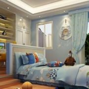 现代简约风格儿童房整体衣柜装饰