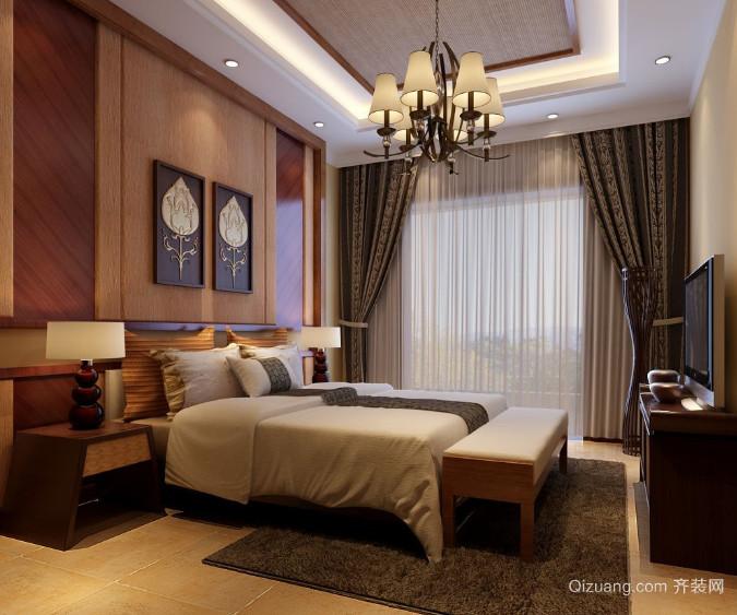 30平米东南亚风格卧室装修效果图