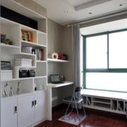 书房简约风格窗户装饰