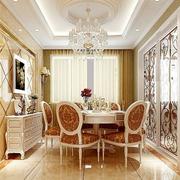 欧式风格奢华餐厅桌柜装饰