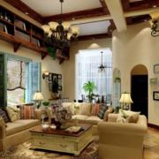 美式地中海混搭风格客厅背景墙装饰